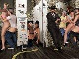 Bose orgie mit nackten schlampen in einer offentlichen toilette