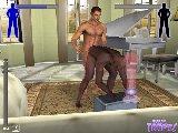 Homosexuell sex spiel mit interracial mannlich bareback ficken