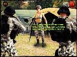 Sexy frau kapitan in einer armee dschungel camp