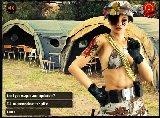 Weiblichen militarischen kapitan mit dicke titten