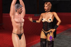Femdom with Frauen and female domination with Jungen